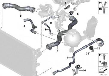 Schlauch Kühlmittelkühler-  7er  (17128572905)