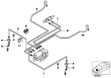 Rohrleitung M10/M12-1133MM  Z3  (34326754591)