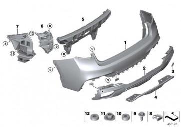 Abdeckung Abschleppöse hinten M X6  (51128056540)
