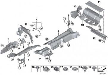 Wärmeisolierung Tank  7er  (51487340216)