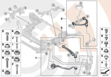 Reparatursatz Querlenker unten links VALUE LINE X5 X6  (31122413485)