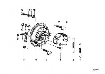 Zylinderschraube M6X18           3er 5er  (46542322498)