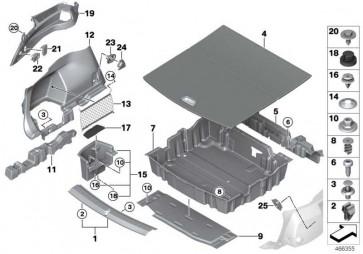 Einlegeboden Gepäckraum ANTHRAZIT 2er  (51477427091)