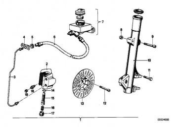 Hauptbremszylinder D=16MM          R50/5-R90S  (34311233955)
