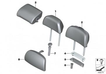 Komfortkissen Kopfstütze SCHWARZ (52207473698)
