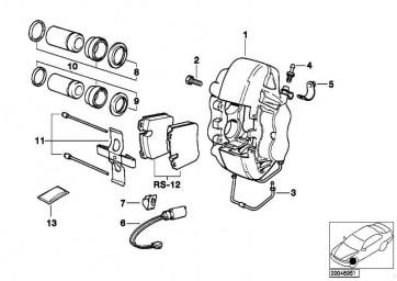 Reparatursatz Bremsbeläge asbestfrei TEXTAR T476     7er  (34111160708)
