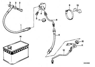 Bremsleitung links  R  (34321235671)