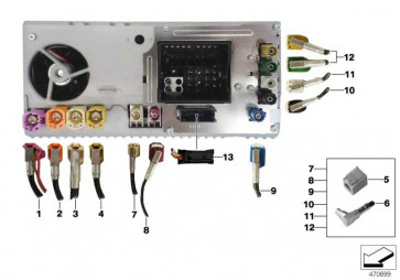 Rep.-Leitung Bluetooth Kabelantenne L= 1615MM 1er 3er 4er 2er  (61119372320)