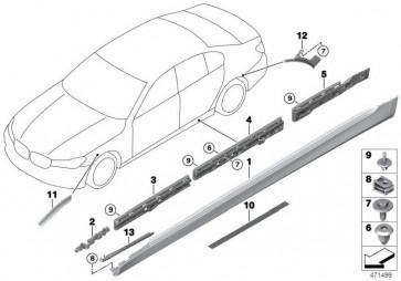 Lichtmodul mit Halter links  7er  (63147853911)