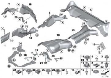 Wärmeisolierung Nachschalldämpfer  X5 X6  (51487290653)