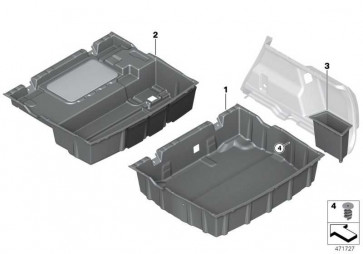 Ablagewanne Gepäckraumboden  X1  (51477425351)