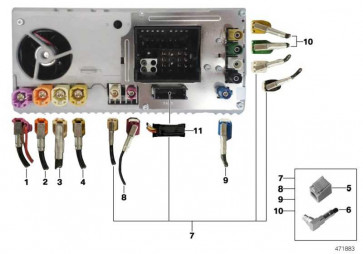 Verbindungsleitung Headunit High - CID L= 1240 MM 7er  (61119395513)