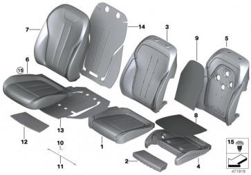 Bezug Komfort Sitz Klimaleder CANBERRABEIGE (52107352276)