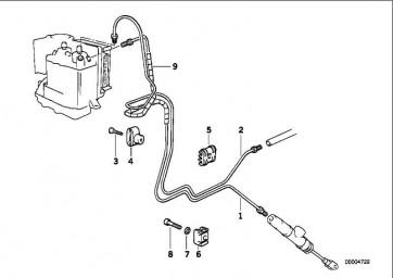 Bremsleitung hinten ABS  259  (34322330461)
