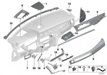 Blende Center Speaker Metall SCHWARZ (51459298639)