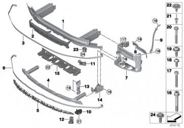 Träger Stossfänger vorn M US (51117385289)