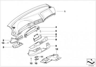 Verkleidung Instrumententafel SCHWARZ         5er  (51457143393)