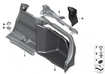 Verkleidung Gepäckraum hinten rechts ANTHRAZIT (51477337234)
