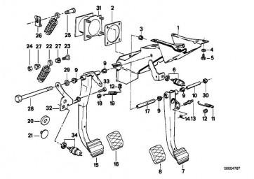 Bremslichtschalter 4-POLIG/MECH.   3er 5er 7er 8er Z3  (61318360417)