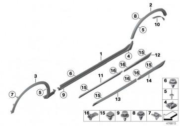 Stossleiste hinten links X-LINE X3 X4  (51477352557)
