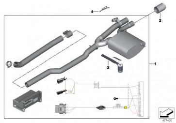 Klappenschalldämpfer System JCW PRO MINI  (18302407323)