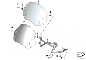 Windschild Scrambler ALPINE WHITE K21  (77338559460)