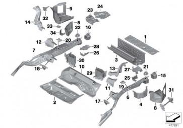 Gepäckraumboden vorne  1er 3er 4er 2er MS  (41007397469)