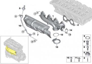 Rohr Abgasdruck  X3 X4 5er 2er 1er 3er 4er  (13628514018)