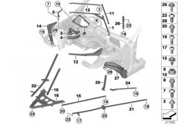 Torxschraube mit Bund ASA M10X20      1er 2er 3er 4er  (07147270121)