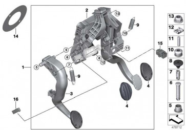 Bolzen Geberzylinder  MINI 2er X1  (35006860673)