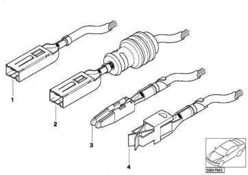 Buchsenkontakt SLK 2,8 ELA mit Kabel 0,2- 0,5MM²/AG 1er 2er 3er 4er 5er 6er 7er X1 X3 X4 X5 Z4  (12520143427)