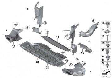 Abschirmung Motorraum vorne  X5  (51718402436)