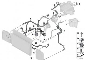 Schlauch aussenliegender Kühler- (17128071986)