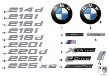 Schriftzug X DRIVE 2er  (51147383517)