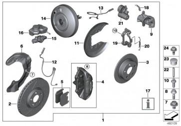 Bremsscheibe belüftet angelocht hinten HA 300X20 JCW (34216864135)