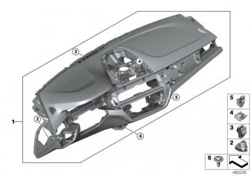 Instrumententafel Leder Head-Up Display SCHWARZ/BRAUN (51458074917)