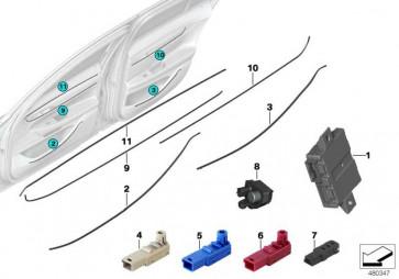 Lichtwellenleiter vorne rechts  7er  (63319384102)