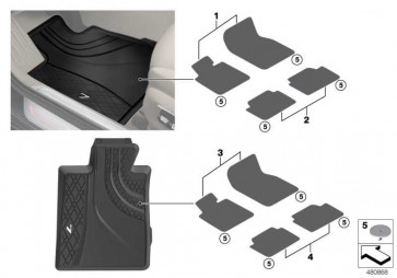 Floormats, all-weather, LHD, front SCHWARZ 7er  (51472365427)
