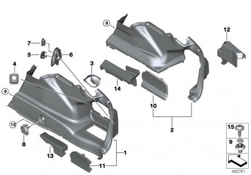 Verkleidung Gepäckraum rechts (51477373572)