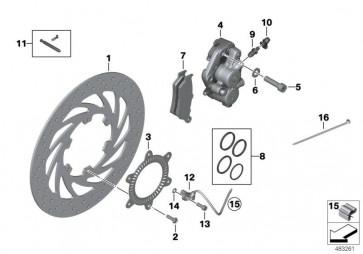 Bremssattel ohne Belag links (34117716715)