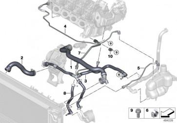 Rohr Ausgleichsbehälter-Zylinderkopf (17129887040)