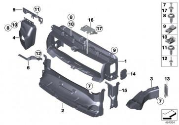 Halter Zusatzkühler links M (51648073531)