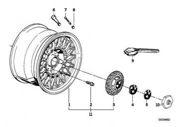 Scheibenrad Leichtmetall silber 7JX15     ET:24 (36111179066)