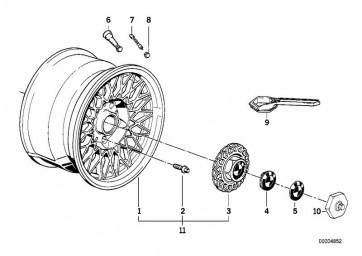 Scheibenrad Leichtmetall 71/2JX16  ET:27 (36112225621)