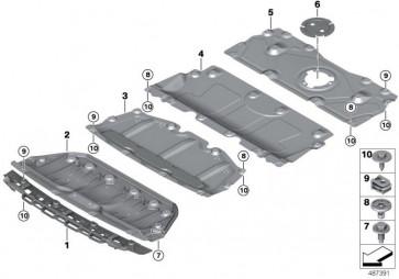 Adapter Motorraumabschirmung (51758072545)