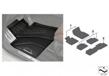 Fußmatten Allwetter hinten (3.Sitzreihe) 3.SR / 7-SITZIG (51472458558)