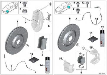 Reparatursatz Bremsbeläge asbestfrei (34208093737)