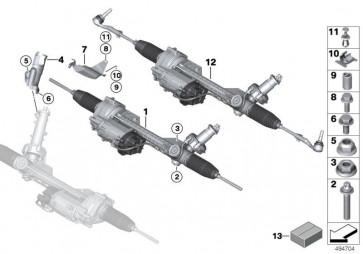 Austausch Lenkgetriebe elektrisch ZF (32106892977)