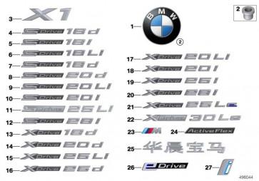 Schriftzug X DRIVE 20I (51148496014)