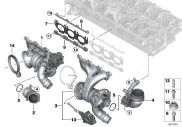 Austausch Turbolader mit Abgaskrümmer ZYL. 4-6 (11658469098)